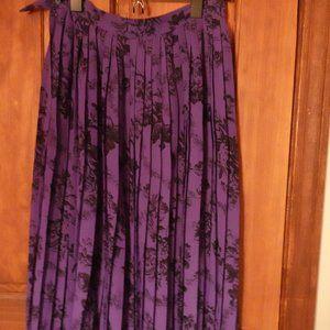 Vintage Purple Floral Skirt